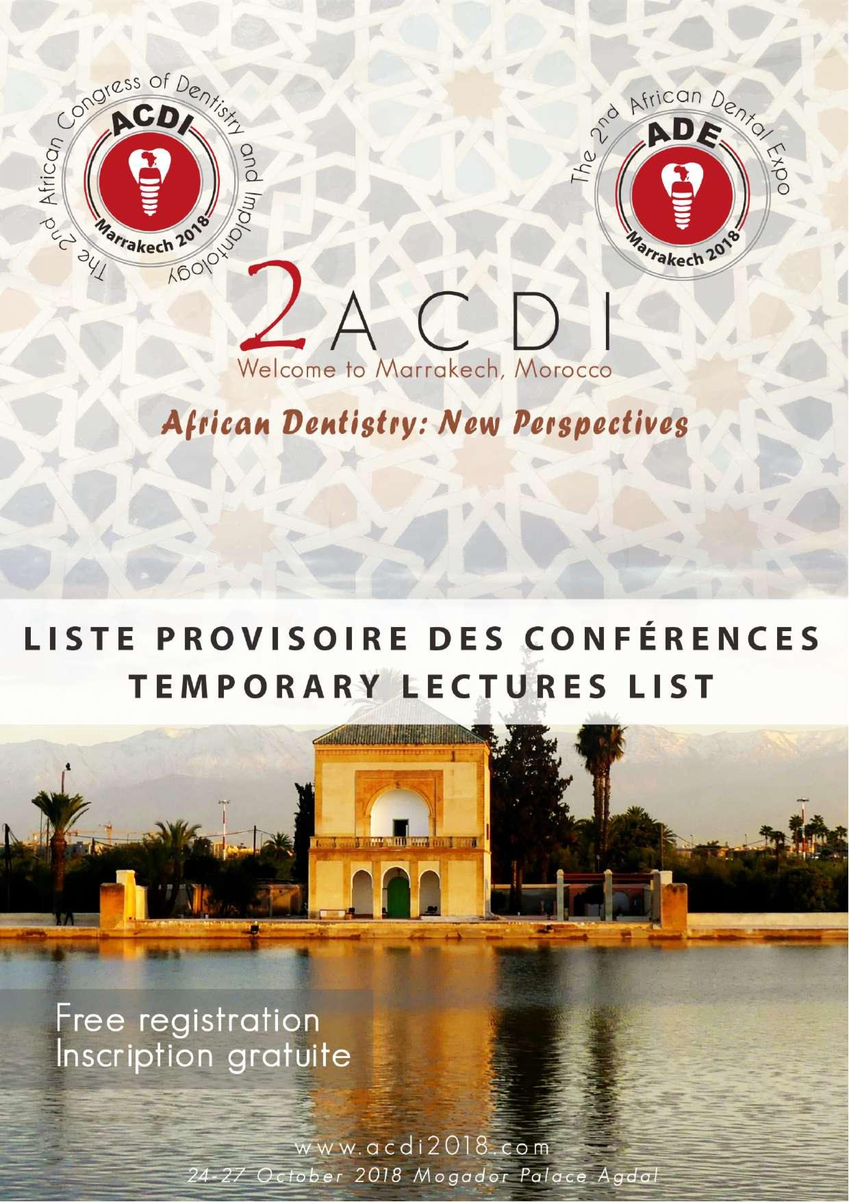 Temporary lectures list